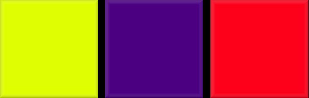 Kleurencombinaties: felle kleuren