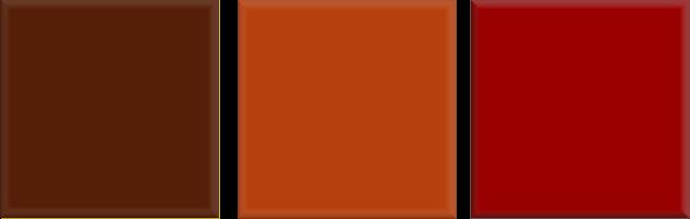 Kleurencombinatie helder warm