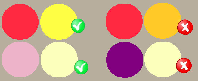 Kleuren die harmoniëren met elkaar